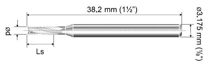 VHM Fräser Spiralverzahnt CMF Ø 0,50mm
