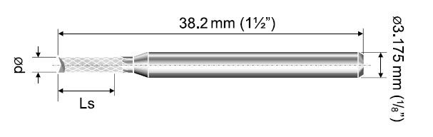 VHM Fräser Diamantverzahnt DMF Ø 0,50mm