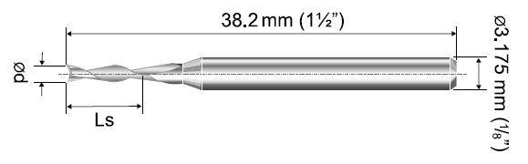 VHM Fräser 2- Schneider TFF Ø 0,50mm
